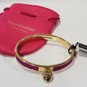 Juicy Couture Glitter Hinged Bangle